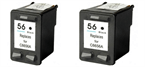 Komplet kartuš za HP C6656AE nr.56 (črna), dvojno pakiranje, kompatibilen