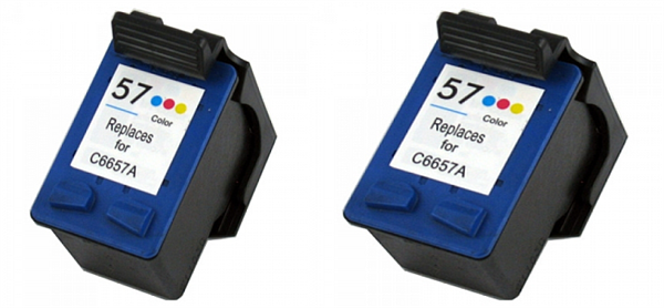 Komplet kartuš za HP C6657AE nr.57 (barvna), dvojno pakiranje, kompatibilen