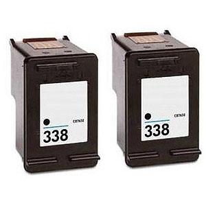 Komplet kartuš za HP C8765EE nr.338 (črna), dvojno pakiranje, kompatibilen