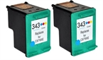 Komplet kartuš za HP C8766EE nr.343 (barvna), dvojno pakiranje, kompatibilen
