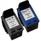Komplet kartuš za HP C9351CE nr.21XL (črna) + C9352AE nr.22 XL (barvna), kompatibilen