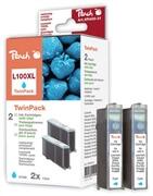 Komplet kartuš za Lexmark 14N1069E nr.100XL (modra), dvojno pakiranje, kompatibilen