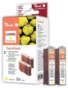 Komplet kartuš za Lexmark 14N1071E nr.100XL (rumena), dvojno pakiranje, kompatibilen