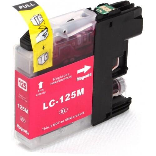 Kartuša za Brother LC125XLM (škrlatna), kompatibilna