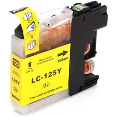 Kartuša za Brother LC125XLY (rumena), kompatibilna