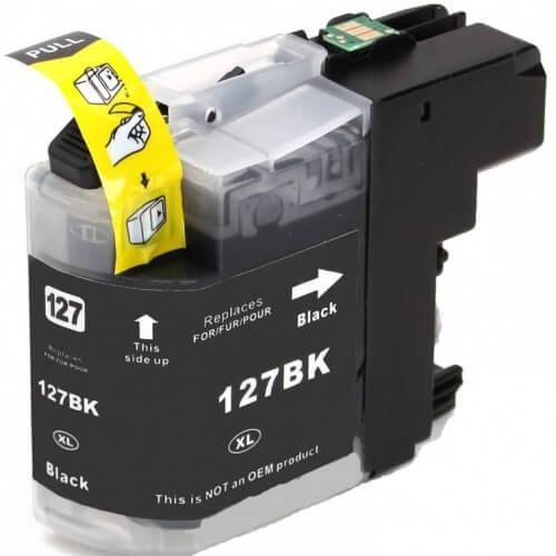 Kartuša za Brother LC127XLBK (črna), kompatibilna