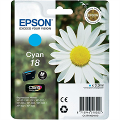 Kartuša Epson 18 (C13T18024010) (modra), original
