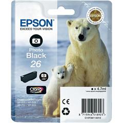 Kartuša Epson 26 (C13T26114010) (foto črna), original