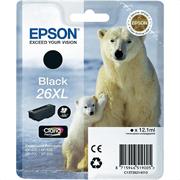 Kartuša Epson 26 XL (C13T26214010) (črna), original