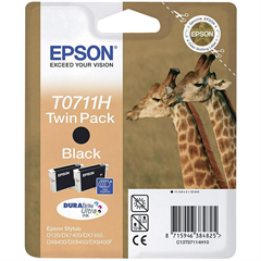 Kartuša Epson T0711H (črna), 2 kosa, original