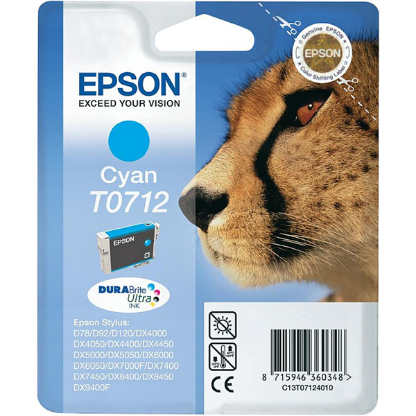 Kartuša Epson T0712 (modra), original