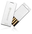 USB ključ Transcend, 16 GB, srebrna, kovinski