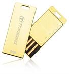 USB ključ Transcend, 8 GB, zlata, kovinski