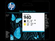 Tiskalna glava HP C4900A nr.940 (črna, rumena), original