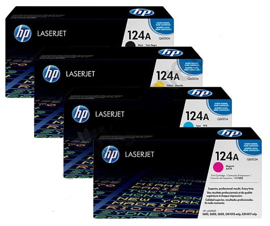 Komplet tonerjev HP Q6000/1/2/3 124A (BK/C/M/Y), original