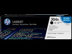 Toner HP CC530AD / 304A (črna), dvojno pakiranje, original