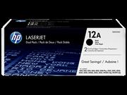 Toner HP Q2612AD (črna), dvojno pakiranje, original