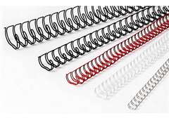 Žične špirale, 12,7 mm, srebrna