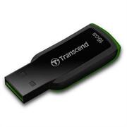 USB ključ Transcend, 16 GB, črna (zelena)