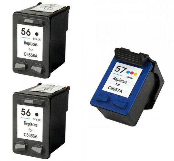 Komplet kartuš za HP (2 x nr.56 BK + 1 x nr.57 CMY), kompatibilen