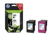 Komplet kartuš HP N9J72AE (nr.301 BK + nr.301 CMY), dvojno pakiranje, original