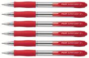 Kemični svinčnik Pilot Super Grip Fine BPGP-10R-F, rdeča, 6 kosov