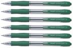Kemični svinčnik Pilot Super Grip Fine BPGP-10R-F, zelena, 6 kosov