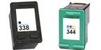 Komplet kartuš za HP C8765EE nr.338 (črna) + C9363EE nr.344 (barvna), kompatibilen