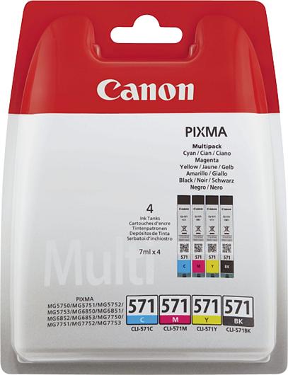 Komplet kartuš Canon CLI-571 (BK/C/M/Y), original