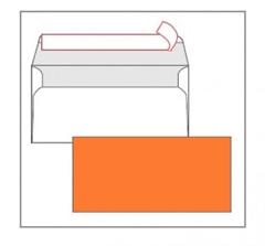 Kuverta amerikanka, barvna (oranžna) 220 x 110 mm, brez okenca, 25 kosov