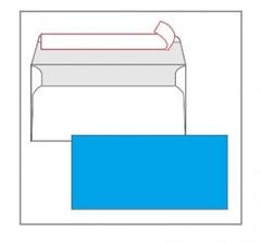 Kuverta amerikanka, barvna (svetlo modra) 220 x 110 mm, brez okenca, 25 kosov