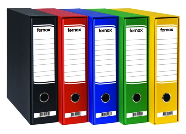 Registrator Fornax A4/80 v škatli (rumena), 11 kosov