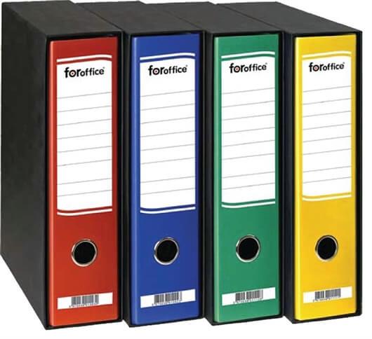 Registrator Foroffice A4/80 v škatli (rumena), 11 kosov