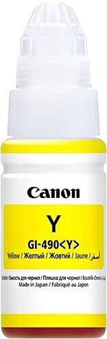 Črnilo za Canon GI-490 (0666C001AA) (G1400/2400/3400) (rumena), original
