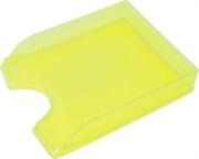 Namizni predalnik, prozoren, rumena