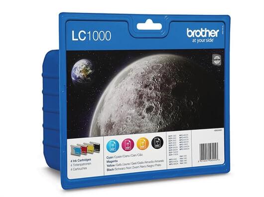 Komplet kartuš Brother LC1000V (BK/C/M/Y), original