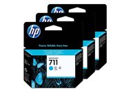 Komplet kartuš HP CZ134A nr.711 (modra), 3 kosi, original