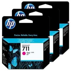 Komplet kartuš HP CZ135A nr.711 (škrlatna), 3 kosi, original