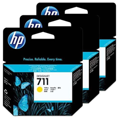 Komplet kartuš HP CZ136A nr.711 (rumena), 3 kosi, original