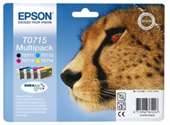 Poškodovana embalaža: komplet kartuš Epson T0715 (BK/C/M/Y), original