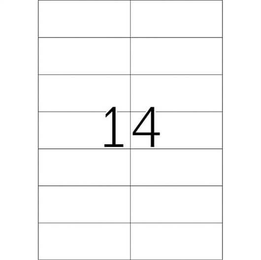 Etikete 653, 105 x 42,3 mm