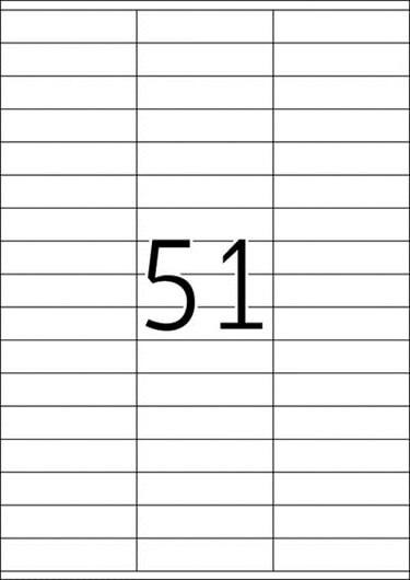 Etikete 420, 70 x 16,9 mm