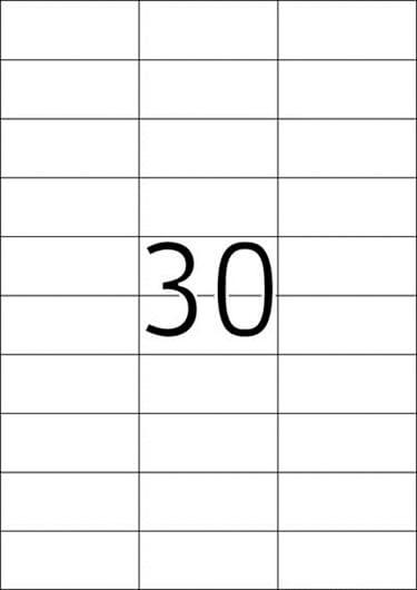 Etikete 481, 70 x 29,7 mm