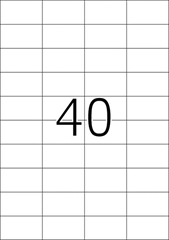 Etikete 651, 52,5 x 29,7 mm