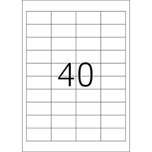Etikete 657, 48,5 x 25,4 mm