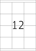 Etikete 661, 70 x 67,7 mm