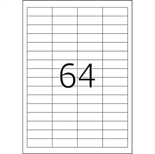 Etikete 667, 48,5 x 16,9 mm