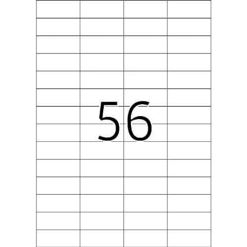 Etikete 668, 52,5 x 21,2 mm