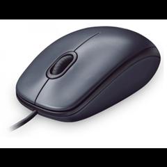 Miška Logitech M100, USB, optična, črna