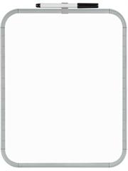 Bela tabla Bi-Office Easy Board, 27,9 x 21,6 cm, siva